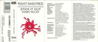 RIGHT SAID FRED - STICK IT OUT - COMIC RELIEF - CASSETTE TAPE SINGLE