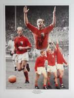 Bobby Charlton signed England 1966 World Cup Winner West Germany Photo Proof