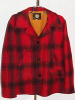 VINTAGE SEARS PLAID WOOL HUNTING JACKET! GAME POCKET! FULLY LINED! UNION MADE-40