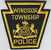 Windsor Township Twp PA Pennsylvania Police FELT patch CHEESECLOTH BACK vintage