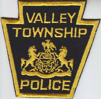 Valley Township (twp) PA Pennsylvania Police patch CHEESECLOTH BACK vintage/old