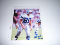 STEVE LARGENT SEAHAWKS HOF 95 JSA/COA SIGNED 8X10 PHOTO