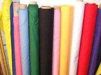 Plain Polycotton Fabric by the metre, all Colours