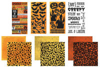 Reminisce SCARE TACTICS HALLOWEEN Stickers & Papers Kit Lot Scrapbooking
