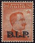 532/57 - BLP - II em. cent. 20 con soprast. nera (N. 7