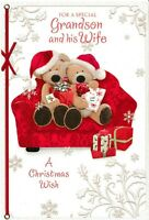 cute GRANDSON AND HIS WIFE christmas card - 4 x cards to choose from!