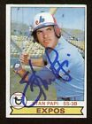 Stan Papi #652 signed autograph auto 1979 Topps Baseball Trading Card