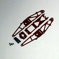 XTREME RACING RED G-10 1/24 MICO SLOT CAR DRAG CHASSIS XTR20043 INLINE BRACKET