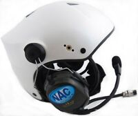 NAC Horus Standard Com PPG Helmet for Powered Paragliding and Paramotor, Pearl