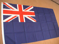BLUE  ENSIGN FLAG OF THE ROYAL NAVY 5'X3' BRAND NEW
