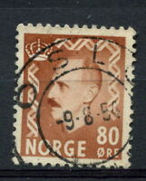 Norway 1950-7 SG#429 80ore Light Brown King Haakon VII Definitive Used #A28404