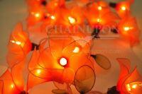 20 ORANGE FLOWER STRING PARTY,PATIO,FAIRY,DECOR,CHRISTMAS,WEDDING,BEDROOM LIGHTS