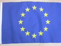 "EUROPE 18"" x 12"" Cloth flag with side hem"