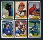 1981 Fleer SIGNED LOT OF SIX # 3, 62, 101, 107, 164, 312 Autographed Yankees