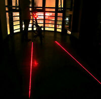 Cycling Bike Bicycle 2 Laser Projector Red Lamps Beam and 5 LED Rear Tail Light