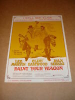 """""""Paint Your Wagon"""" 1969 film sheet music (Lee Marvin/Clint Eastwood)"""