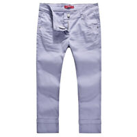 NEW LADIES STRETCHED COLORED CROPPED JEANS-SIZE 12