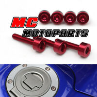 Red Honda Gas Fuel Cap Bolts Screws CB600F Hornet  2007-2013 2009 2010 2012