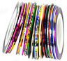 Bulk 30Pcs Mixed Colors Rolls Striping Tape Line Nail Art Decoration Sticker J4P