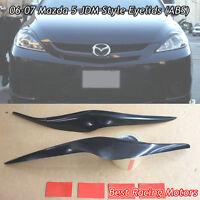 JDM Style Headlights Eyebrows Eyelids (ABS) Fits 06-07 Mazda 5