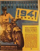 1941  Harley-Davidson  Dealer Counter Catalog With  All Models W Photos