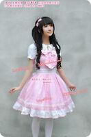 Cosplay kostüm Lolita Gothik Rock adorable Prinzessin Kleid Rosa BGT5016