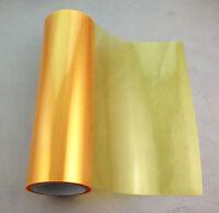 "12""X48"" Golden Yellow Headlight Fog Light Taillight Tint Viny Film Sheet Sticker"