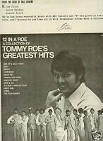 TOMMY ROE 1969 Promo Poster Ad FROM desk of BILL LOWERY