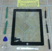 Black Apple iPad 2 Touch Screen Glass Digitizer Replacement + 7 piece tool kit