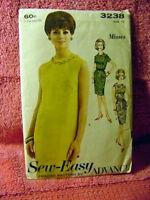 60s Advance Sheath Dress pattern 3238 sz 12/32 bust
