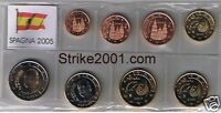 Euro SPAGNA 2005 - 8 PZ FDC in Blister -