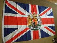 UNION JACK WITH CREST UK FLAG FLAGS 5'X3' BRAND NEW