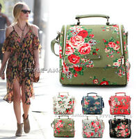 NEW Women Ladies Messenger Floral Vintage Square Shoulder Handbag Cross Body Bag