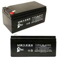 2-pack Aquatec FORTUNA BATH LIFT Battery UB1234 12V 3.4Ah Sealed Lead Acid AGM