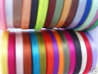30 ROLLS OF SATIN RIBBON, 30 COLORS 450 YARDS 6 MM, Whole Sale Value, RRP £30.00