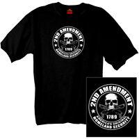 2nd Amendment America's Original Homeland Security T-shirt New Skull Gun Rights