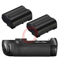 MB-D12 Battery Grip for Nikon D800 DSLR Multi-Power Grip + 2 x 1600mAh EN-EL15