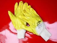 144Paar Nitras Arbeitshandschuhe Handschuhe Nitril gelb 03400 (per Paar 0,63€)