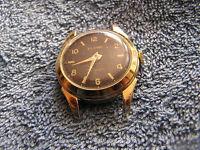 Vintage Globe Diamond Tooled Watch Swiss Made Black Face