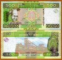 Guinea / Africa, 500 Francs, 2012, Pick 39b, UNC   colorful