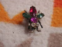 Vintage Coro Scatter fly Bug Pin Brooch Sterling