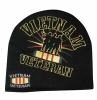 Embroidered Vietnam Vet Veterans Troops Logo Beanie Knit Stocking Cap Skully Hat