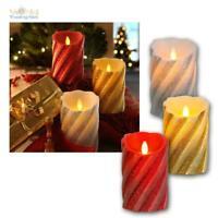 """LED Kerze """"bewegte Flamme"""" Echtwachs Wachs Kerzen flammenlos flackernd Batterie"""