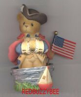CHERISHED TEDDIES  GEORGE - U.S. Exclusive - Patriot in bucket - Retired