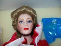"NRFB FRANKLIN MINT Rose Princess #1 22"" PORCELAIN DOLL by Joyce Reavey NIB"