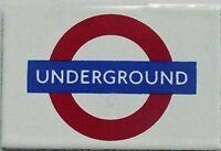 """UNDERGROUND"" London U'ground enamel fridge magnet   (gg)"