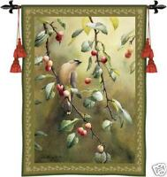 38x53 CHERRY CHASE Bird in Tree Tapestry Wall Hanging