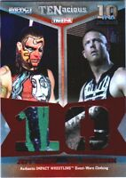TNA Jeff Hardy & Mr. Anderson 2012 TENacious RED Dual Relic Card SN 5 of 10