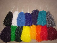 PAIR OF SOLID COLOR ROOTER POM POMS *Pick your color*