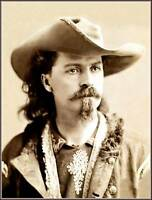 """Photo Old West Sepia View: William Frederick """"Buffalo Bill"""" Cody, 1875"""